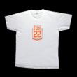 Logós póló fehér-narancssárga