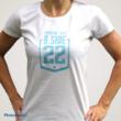Női logós póló Fehér-babakék