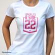 Női logós póló Fehér-fukszia