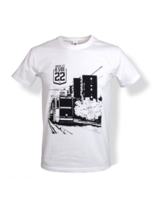 Leányka utca mintás póló